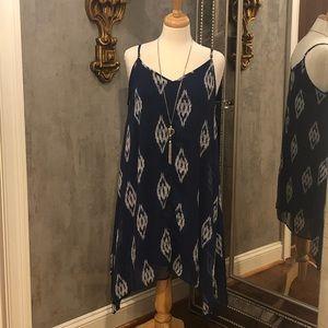 Charming Charlie's Geometric Navy Dress